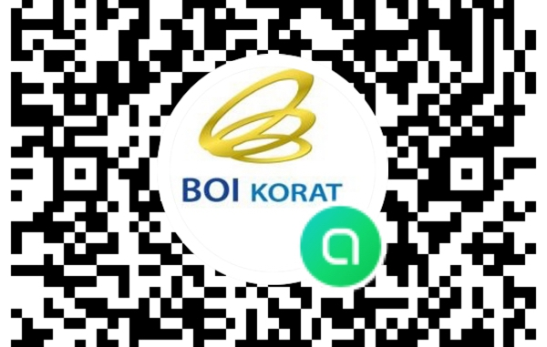 ขอเชิญ Scan QR CODE เพื่อรับข้อมูลข่าวสารกิจกรรมดีๆ  BOI KORAT